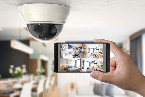 CCTV-view footage on-smartphone-